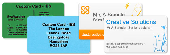 Custom card ibs plastic cards business cards plastic plastic business cards not only determine the products or services your company offers but effectively represent professionalism and hierarchy within your reheart Gallery